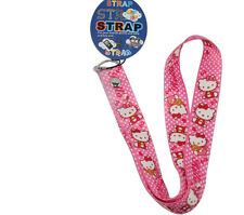 Cartoon Pink Hello Kitty Girl Keys Lanyard Cell Phone Neck Strap ID Holder Strap