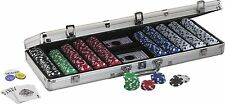 Fat Cat Hold'em Dealer Poker Chip Set  In Case 500 Chips Professional Casino New