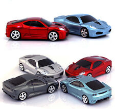 UK 2.4GHz Wireless 3D 1600DPI Ferrari Car Shape Optical Usb Mouse 4 Colors