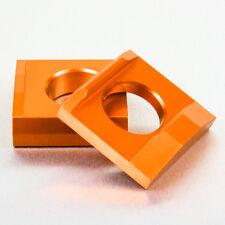 Aluminium Chain Adjuster Blocks - Suzuki GSXR600 / GSXR1000 / Other Orange