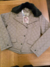 LADIES JOHN PARTRIDGE CLIFTON QUILTED JACKET TAUPE SIZE SMALL (10) 102513