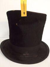Antique Stovepipe Top Hat Beaver Fur Men's 19th Century