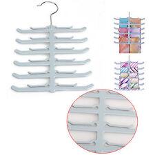 Fishbone Necktie Tie Belt Hanger Rack Shawl Scarf Clip Holder Organizerc Grey