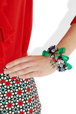 STUNNING MARNI BRACELET GREEN BEADS SEQUINS&STONES GOLD CHAIN NEW WITH DUSTBAG