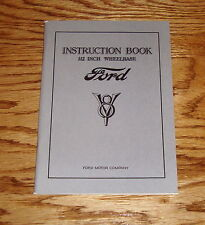 1933 Ford V-8 Instruction Book Owners Manual 112 Inch Wheelbase 33
