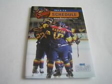 2012/13 OHL ERIE OTTERS POCKET SCHEDULE***IMAGE SPORTS NETWORK***