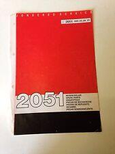 Jonsered 2051 Gasolina Motosierra lista-Manual de piezas de repuesto