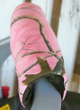 pink realtree and brown minky infant car seat carrier handle cushion