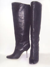 "COOLEST Genuine LANVIN River 2006 Knee-Hi 4"" METAL SPIKE HEEL BOOTS 40/10US WOW!"