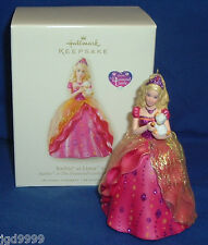 Hallmark Ornament Barbie as Liana in Barbie & The Diamond Castle 2008 Pink Gown