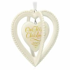 Hallmark 2015 Our First Christmas Together Two Hearts Ornament