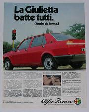 Advert Pubblicità 1980 ALFA ROMEO GIULIETTA 1.3 1.6 1.8