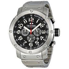 TW Steel Grandeur Tech 48 MM Black Dial Stainless Steel Chronograph Mens Watch