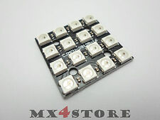 WS2812B 4x4 Matrix digital LED RGB 5050 Modul Board Arduino STM32 454