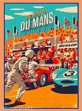 1954 24 Hours Le Mans French Automobile Race Advertisement Vintage Poster 4