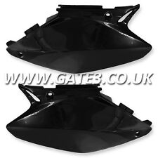 HONDA CR250 CR 250 2002-2007 BLACK SIDE PANELS NUMBER BOARDS MOTOCROSS PLASTICS