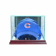 New Baseball Cap Display Case Glass *UV Cherry Molding Free Shipping Made in USA