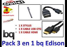 *****  PACK ACCESORIOS PARA TABLET BQ EDISON 10.1 HDMI USB OTG