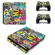 Custom Stickers Skin for Sony PS4 Slim Playstation 4 Slim Console Controllers
