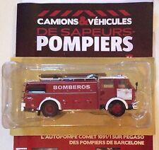 Camion Pompiers Barcelone autopompe comet 1091/1 sur pegaso N° 64 Hachette 1/43