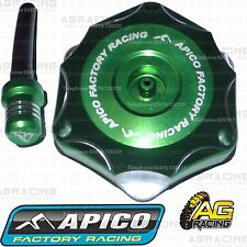 Apico Green Alloy Fuel Cap Vent Pipe For Kawasaki KXF 250 2008 Motocross Enduro
