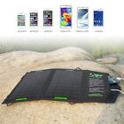 8W Solar Panel Foldable Charger Backup for 5V USB-charged Device iPhone 5S Phone