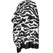 DMI Zebra Print Square Cape, Professional Hairdressing Gown, Water Resistant
