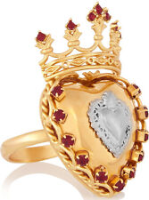 Dolce & Gabbana Sacro Cuore Sacred Heart Crown Ring
