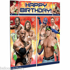 WWE WRESTLING Champions Birthday Scene Setter Add-on Banner Wall Decoration Kit
