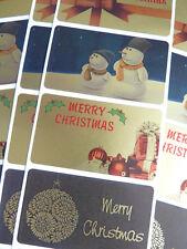 Feliz, Feliz Navidad saludo adhesivos, etiquetas para las tarjetas, sobres hcg5230