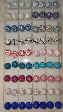 Joblot De 36 Pares Shamballa Bola Disco Aretes 10 Mm-nuevo al por mayor
