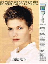 PUBLICITE ADVERTISING 114  1989  BARBARA GOULD   mousse de toilette cosmétiques