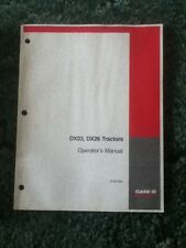 87307205 - Is A New Operators Manual For A CaseIH DX23, DX26 Tractors.