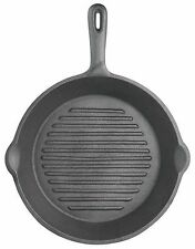 Kitchen Craft Clearview Deluxe Cast Iron 24cm Round Ribbed Grill Pan