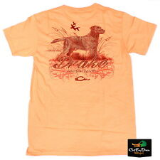 DRAKE WATERFOWL SOUTHERN COLLECTION LAB AND CATTAILS S/S T-SHIRT MELON XL