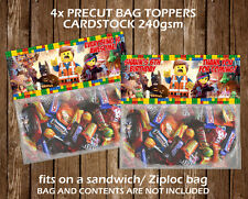 The Lego Movie Personalised Party Bag Topper Birthday Favours Gift Bag Children