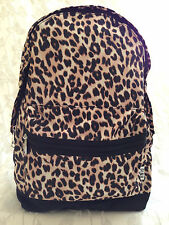 PINK BY VICTORIA'S SECRET CAMPUS BACKPACK ANIMAL PRINT CLASSIC BOOKBAG