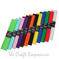 Crepe Paper Roll Sheets Coloured Art & Craft Paper 2.0m x 0.5m Pick Your Colour