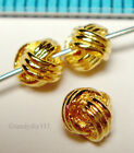 4x VERMEIL 18K GOLD plated STERLING SILVER WOVEN ROUND SPACER BEAD 4mm G099