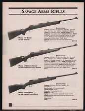 2001 SAVAGE 11F Hunter, 11G, 10GY Ladies/Youth Short Action Rifle AD