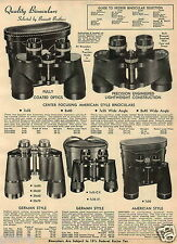 1965 PAPER AD Binoculars Japan Rifle Scope Realist Bushnell Bausch Lomb Balvar