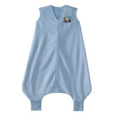 Halo - SleepSack- Early Walker- MicroFleece Wearable Blanket- Blue Train- XLarge