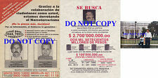 Pablo Escobar Colombian Drug Lord Medellin Cartel (2) Wanted Posters Reprints