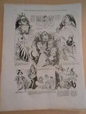 1866 PELE MELE dessins Les fils aux francais et les chevaliers de la table ronde
