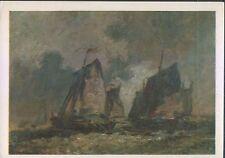 Alte Kunstpostkarte - Johann-Barthold Jongkind - Marine