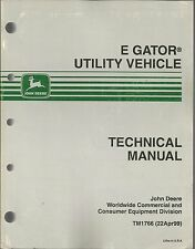 JOHN DEERE E GATOR UTILITY VEHICLE TECHNICAL MANUAL