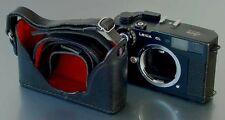 LUIGI's PREMIUM CASE FOR LEICA CL,DELUXE STRAP INCLUDED,HOLD IT NOW HORIZONTALLY
