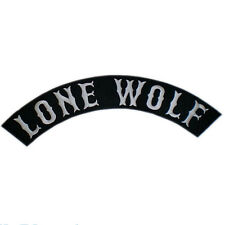 LONE WOLF No Club Independent Free Biker Big Embroidered Rocker Back Patch 13""