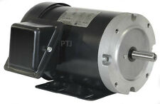 1 HP Electric Motor  56C Frame 3 Phase TEFC 208-230/460 1800 RPM Rolled Steel