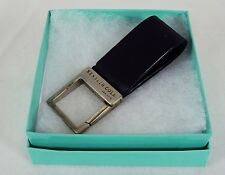 Stainless Steel Key Ring Kenneth Cole Leather w/Square Key Holder NEW # 5230320